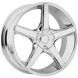 24 inch Akuza Axis Chrome Wheels Rims 5x115 300C Charger Magnum Challenger AWD