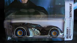 Hot Wheels 2012 Arkham Asylum Batmobile Custom Super Wheels Rubber Tires New