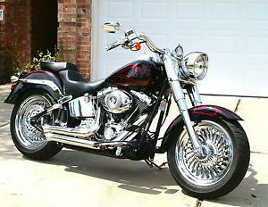 Harley Softail Fatboy Custom Cut Turbine 2008 2013 Chrome Rims Wheels Exchange