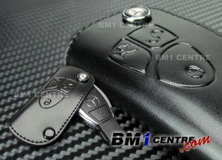 Mercedes Benz Leather Key Fob Holder for C E s CLS CLK SLK CL SL ml Class AMG