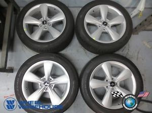 "Four 2013 Ford Mustang Factory 18"" Wheels Tires Rims Pirelli 235 50 18"