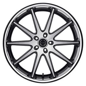 Asanti Black Label ABL4 22x9 22x10 Black SS Lip Wheel Acura Lexus Mercedes BMW