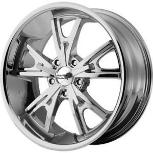 17x8 Chrome American Racing Vintage Daytona Wheels 5x4 5 0 Ford Mustang