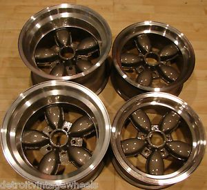 1970s American Racing 15x10 14X7 200S Daisy Mag Rims Center Caps Lugnuts