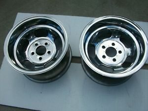 Ansen Pair Polished Mag Wheels American Racing Et Appliance Slot Rims 15x8 5