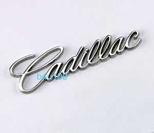 3D Metal Emblem Badge Sticker Decal Chrome Auto Car Silver Cadillac BR37