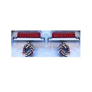 """Back Off"" LED Light Bars Harley Davidson Motorcycle Running Brake Lights"