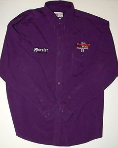 Mens XL Hoosier Racing Tire Viper Racing League Mechanics Utility Purple Shirt