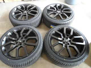 "22"" New Range Rover Land Rover HSE Sport LR3 LR4 Satin Black Wheels w Tires"