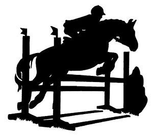 Jumping Horse Sticker Decal 4 Car Float Tack Box 110