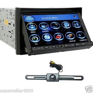 "7"" Double DIN in Dash Car Stereo DVD Player BT Rear Cam"