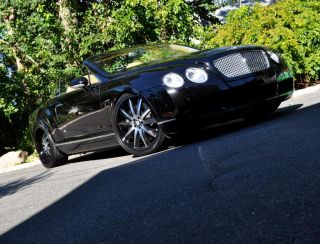 ★ Bentley GT Mercedes S550 CL550 22 in Rims Tires Black Noir Rims New Set 4
