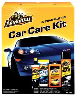 Armor All Car Care Kit Wash Wax Detailing Supplies Gift