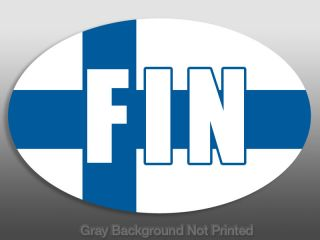 Euro Oval Fin Finland Flag Sticker Decal Decals Car