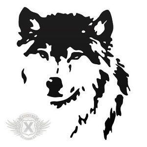 Decals Stickers Wolf Head Car Helmet Window Bike ATV Jet Ski 0502 05221