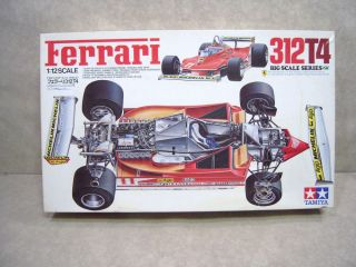 Ferrari 312T4 1 12 Scale Model Kit Tamiya Formula Race Car Incomplete for Parts