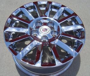 "17"" Cadillac cts 5 Lug New Chromed Wheels Rims 2008 2013 Brand New 4668"