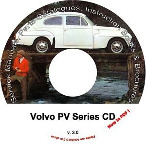 Volvo PV Parts Service Manual CD Catalogs Extra