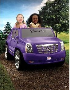 Power Wheel Purple Cadillac Escalade New