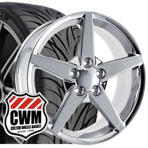 "17x9 5"" C6 Corvette Style Chrome Wheels Rims Tires Fit C4 Corvette 1986"