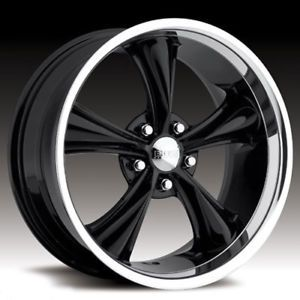 "20"" Wheels Rims Boss Black Spokes Polished Lip BMW Camaro Corvette Range Rover"