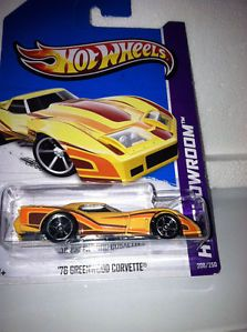 2013 Hot Wheels Showroom '76 Greenwood Corvette Brand New Just Released