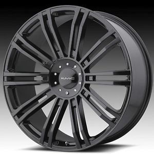 24 inch KMC Black Wheels Rims 5x5 5 5x139 7 Dodge RAM 1500 Ford Bronco