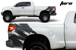 Toyota Tundra TRD 4x4 Fender Graphics Vinyl Sticker Decal Matte Bed Parts Torn
