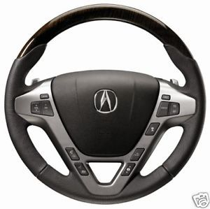 2012 Acura MDX Wood Steering Wheel in Ebony Black