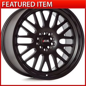 XXR 531 18 18x9 5 5 100 5 114 3 35 Flat Black Wheels Rims Acura TSX TL RSX TC