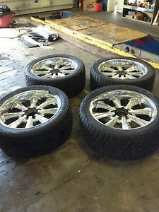 Ford 8 Lug Rims and Tires