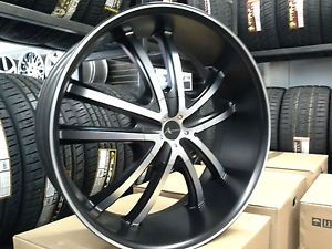 24 inch Armano 502 Wheels Rims and Tire Package Fit Chevy GMC Ford Cadillac
