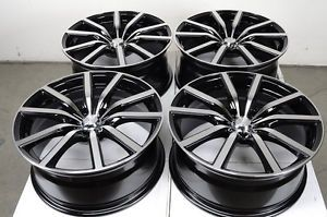 18 5x120 Black Effect Wheels BMW Cadillac CTC cts Pontiac G8 328i 3 Series Rims