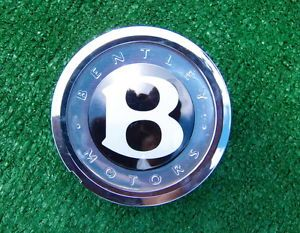 Single Genuine Factory Bentley Floating Self Leveling Wheel Center Cap Badge