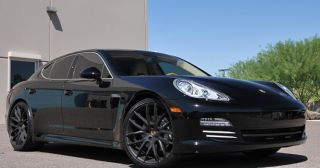 "22"" Giovanna Kilis Wheels Black Porsche Panamera s 4 GTS Turbo Tires Set Sport"