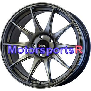 17 17x8 25 XXR 527 Chromium Black Concave Rims Wheels 02 06 Acura RSX Type s TSX