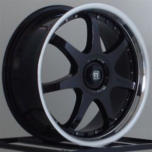17 inch Wheels Rims Honda Civic Acura Integra Nissan Toyota Four 4 Lug Black FF7