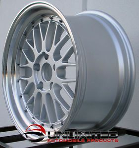 18 LM Staggered Silver Machined Lip Wheels Rims Fit Acura NSX TSX RSX TL