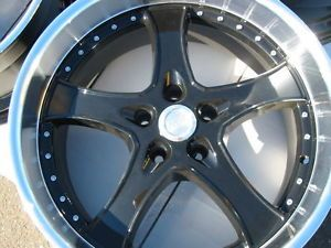 Adr 95 Spartan 5x108 38 Black Wheels Rims Jaguar Ford Lincoln Volvo Landrover
