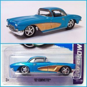 New 2013 Hot Wheels '62 Chevy Corvette Custom Super Treasure Hunt Real Riders