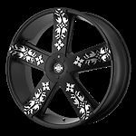 22 inch Black Rims Wheels Chrysler 300 Dodge Charger Magnum AWD 5x1115 KMC 5 Lug