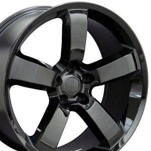 "22"" Charger Black Wheels Set of 4 Rims Fit Dodge"