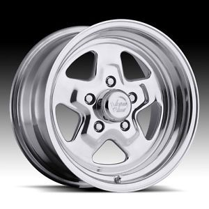 "15"" inch 5x4 5 Polished Wheels Rims 5 Lug Chrysler Dodge Ford Plymouth Pontiac"