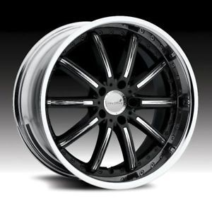 "22"" Black Rims Tires 5x115 AWD Chrysler 300 265 35 22"