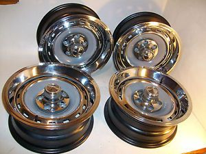 69 76 Chrysler Plymouth Dodge C Body Restored 15x6 Mopar Rallye Wheels Rims