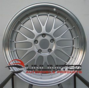 "18"" Varrstoen ES1 Style Silver Staggered Wheels Rims Fit Ford Mustang 1994 2003"