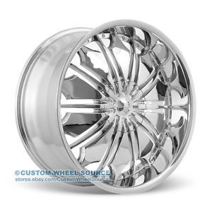 "18"" Tyfun TF706 Chrome Wheels for Dodge Fiat Ford Honda"