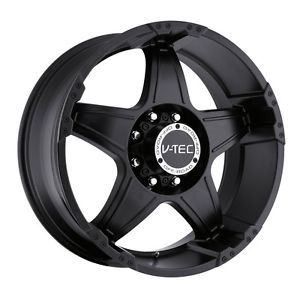 22 inch V Tec Wizard Matte Black Wheels Rims 5x135 97 03 Ford F150 Expedition