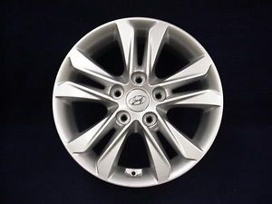 "Hyundai Elantra GT 2013 16"" 5 Split Spoke Silver Alloy Aluminum Wheels Set 4"