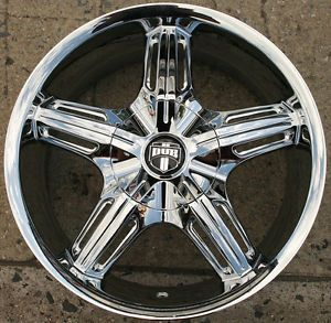 Dub Drone 5 S155 17 x 7 5 Chrome Rims Wheels Jaguar XJ8's 04 09 5H 40